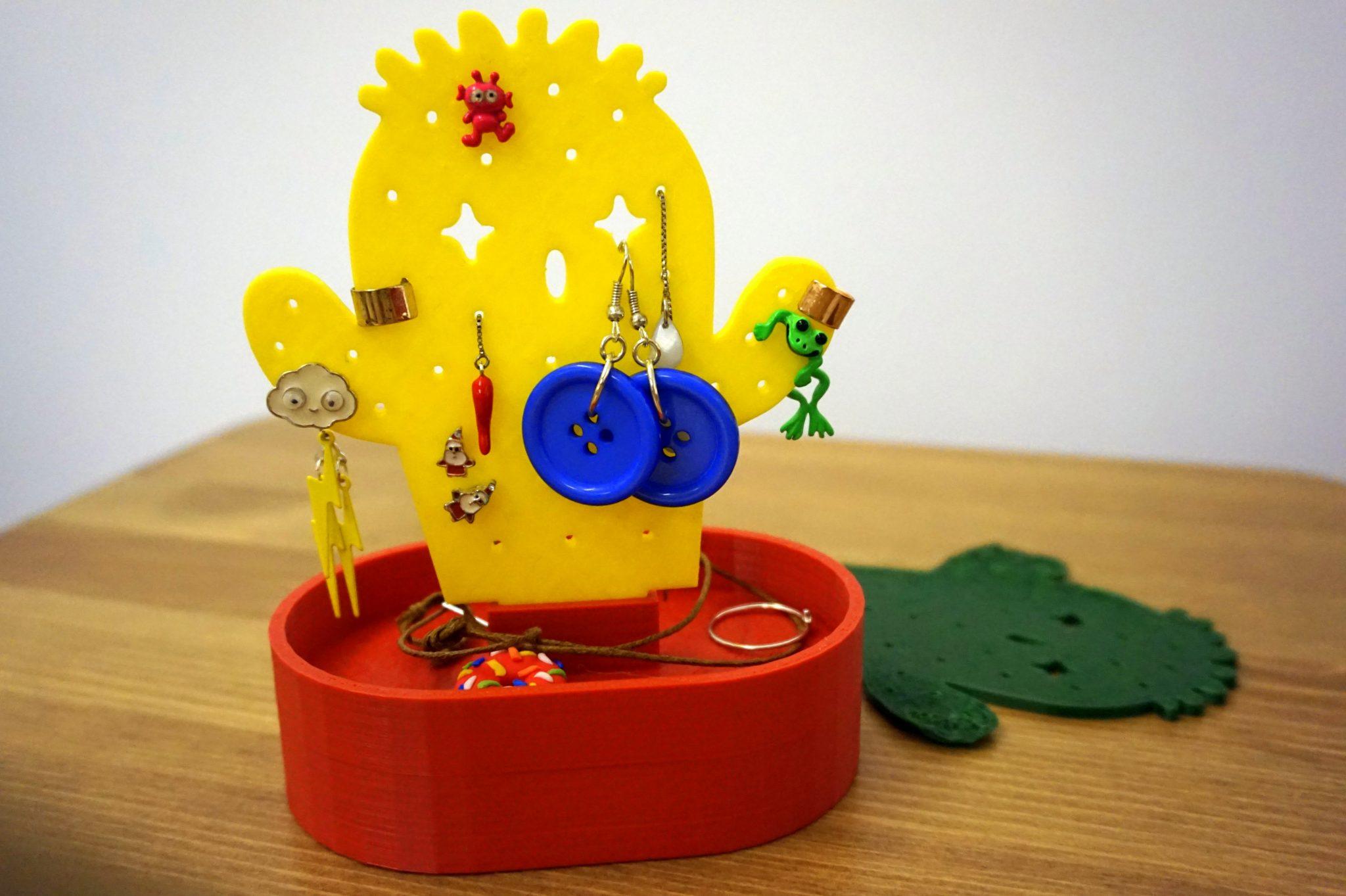 Idee Per Porta Orecchini portaorecchini cactus - progetto con stampante 3d - fun&food